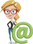 Female Cartoon Character АКА Pam the Lucky Charm - With Email Sign