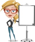 Female Cartoon Character АКА Pam the Lucky Charm - With a Whiteboard