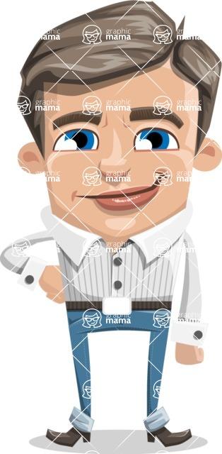 Cartoon Chibi Guy Vector Character AKA Brighton - Normal