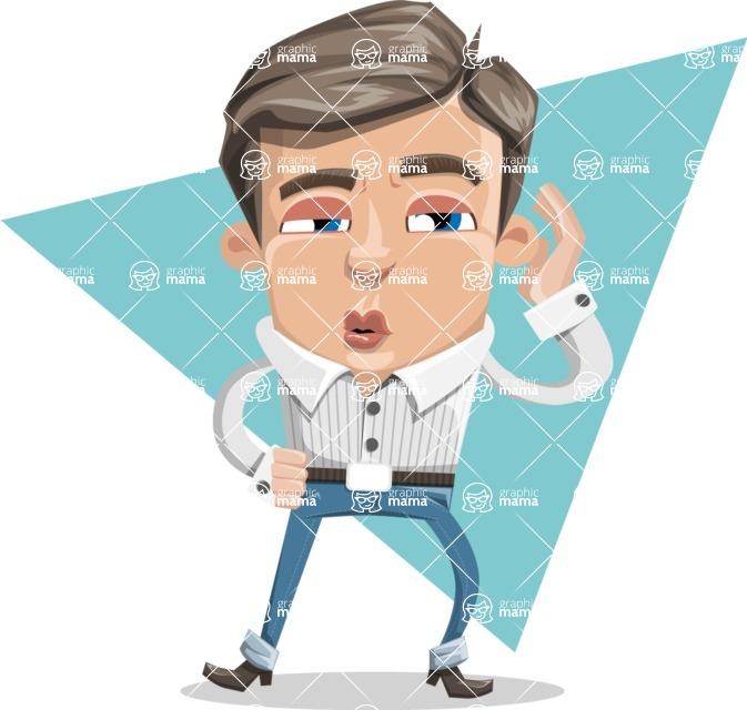 Cartoon Chibi Guy Vector Character AKA Brighton - shape8