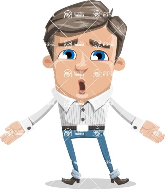 Cartoon Chibi Guy Vector Character AKA Brighton - Lost
