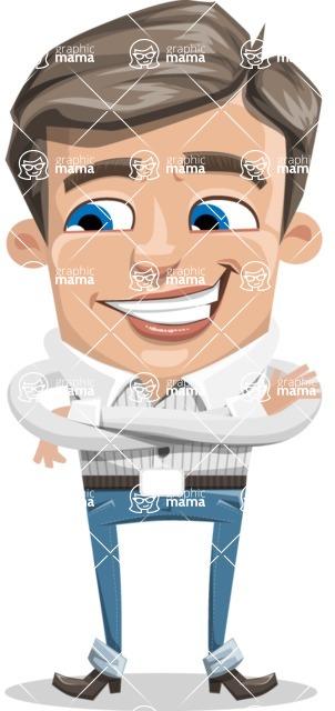 Cartoon Chibi Guy Vector Character AKA Brighton - Patient