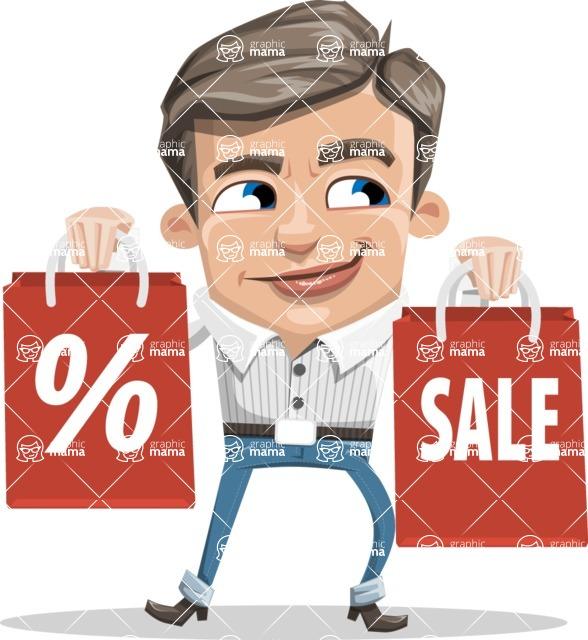 Cartoon Chibi Guy Vector Character AKA Brighton - Sale2
