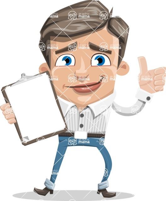 Cartoon Chibi Guy Vector Character AKA Brighton - Notepad 1