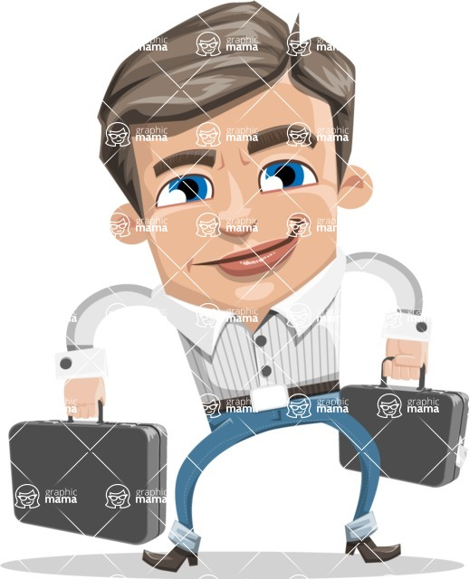Cartoon Chibi Guy Vector Character AKA Brighton - Brifcase 3