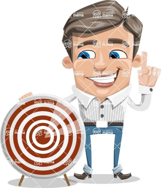 Cartoon Chibi Guy Vector Character AKA Brighton - Target