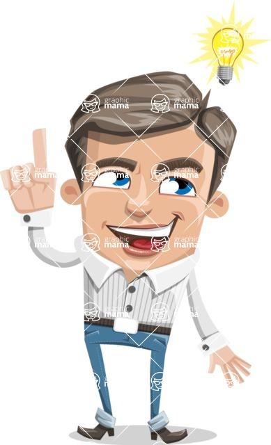 Cartoon Chibi Guy Vector Character AKA Brighton - Idea 2
