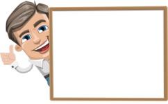 Cartoon Chibi Guy Vector Character AKA Brighton - Presentation 5