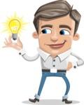 Cartoon Chibi Guy Vector Character AKA Brighton - Idea 1