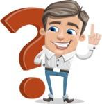 Cartoon Chibi Guy Vector Character AKA Brighton - Question