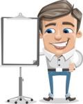Cartoon Chibi Guy Vector Character AKA Brighton - Presentation 1