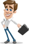 Male Cartoon Character АКА Edward Keeps-word - with Briefcase