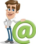 Male Cartoon Character АКА Edward Keeps-word - with Email Sign