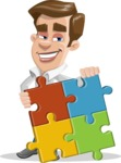 Male Cartoon Character АКА Edward Keeps-word - with Puzzle