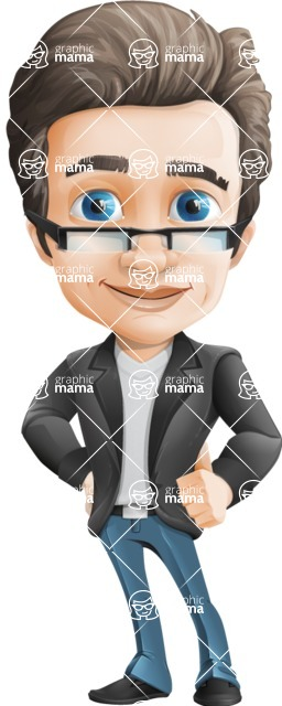 Handsome man vector character - Nick Smartman - Normal