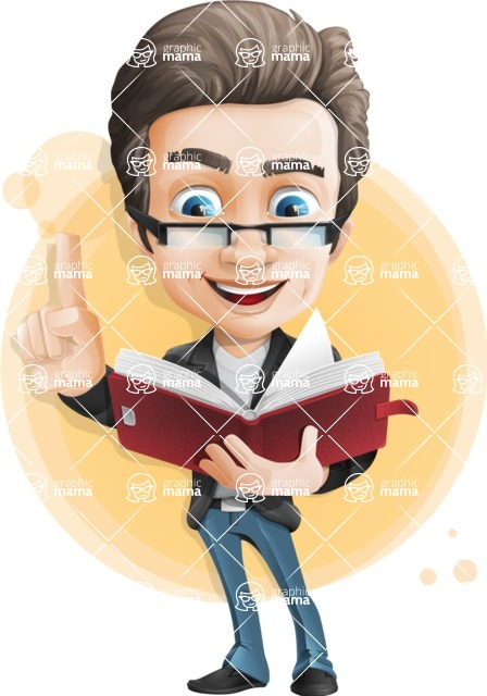 Vector Business Man Cartoon Character Design - Shape7