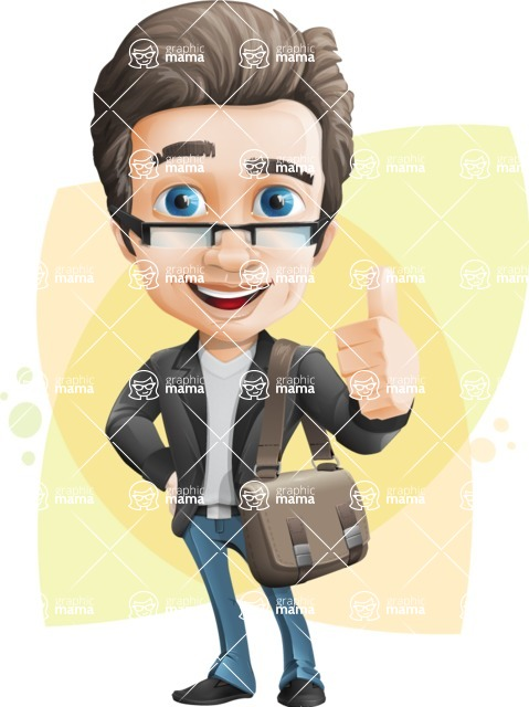 Handsome man vector character - Nick Smartman - Shape8