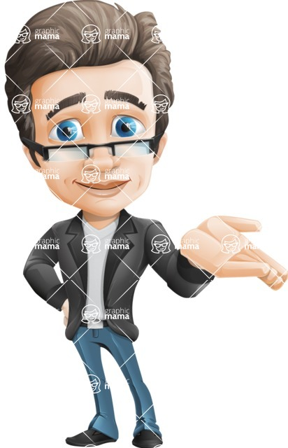 Vector Business Man Cartoon Character Design - Sorry