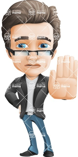 Handsome man vector character - Nick Smartman - Stop