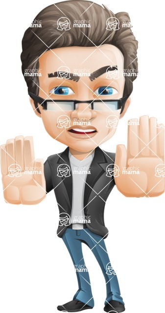 Handsome man vector character - one of GraphicMama best sellers - Stop2