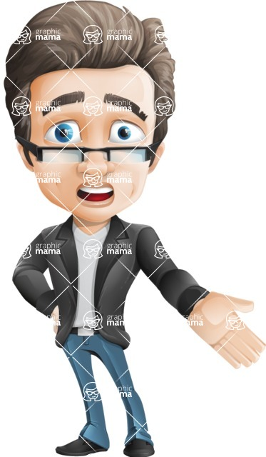 Handsome man vector character - Nick Smartman - Stunned