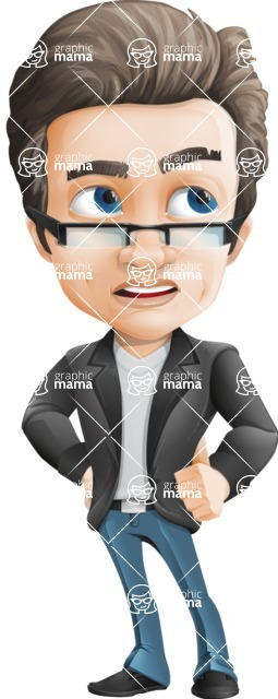 Handsome man vector character - one of GraphicMama best sellers - Roll Eyes
