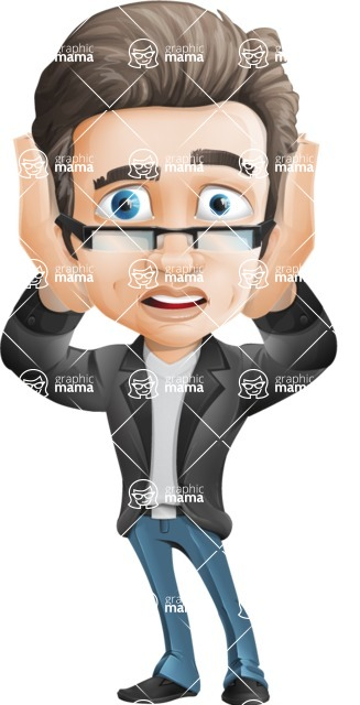 Handsome man vector character - one of GraphicMama best sellers - Confused