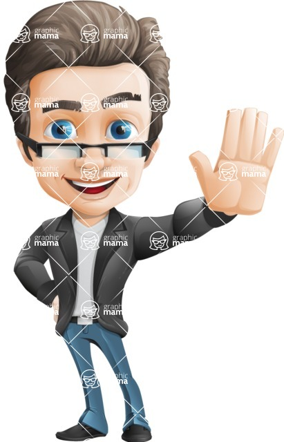 Handsome man vector character - Nick Smartman - Hello
