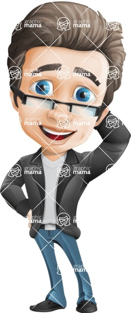 Handsome man vector character - Nick Smartman - Oops