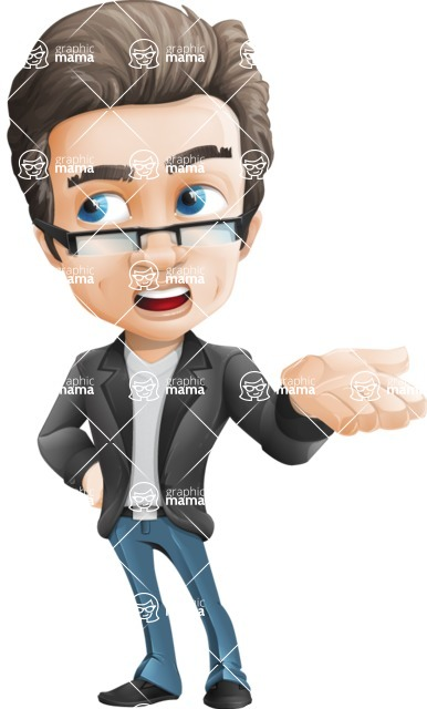 Handsome man vector character - Nick Smartman - Bored