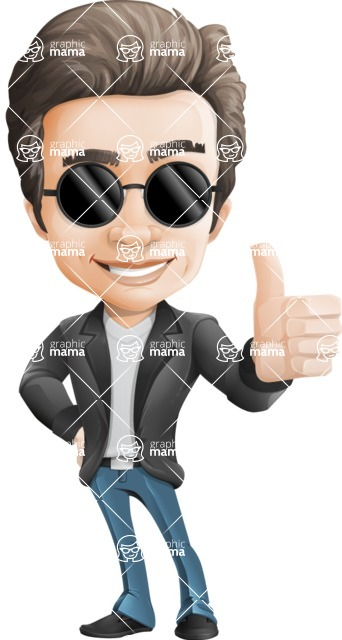 Handsome man vector character - Nick Smartman - Sunglasses