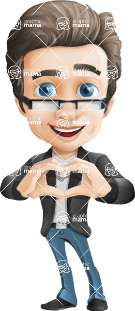 Handsome man vector character - one of GraphicMama best sellers - Show Love