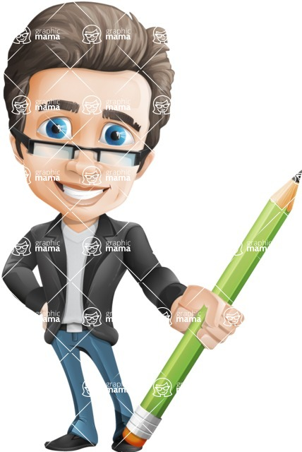Handsome man vector character - Nick Smartman - Pencil