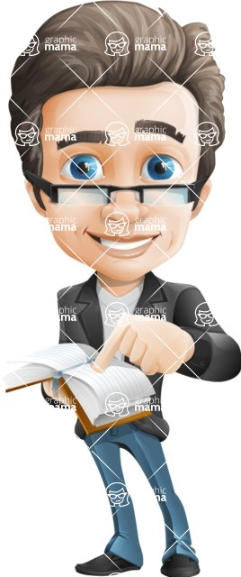 Vector Business Man Cartoon Character Design - Book1