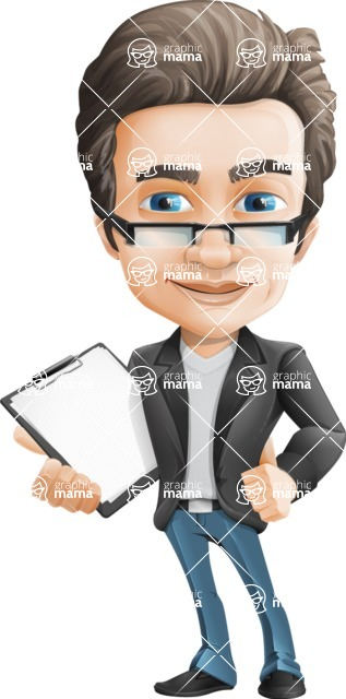 Handsome man vector character - Nick Smartman - Notepad2