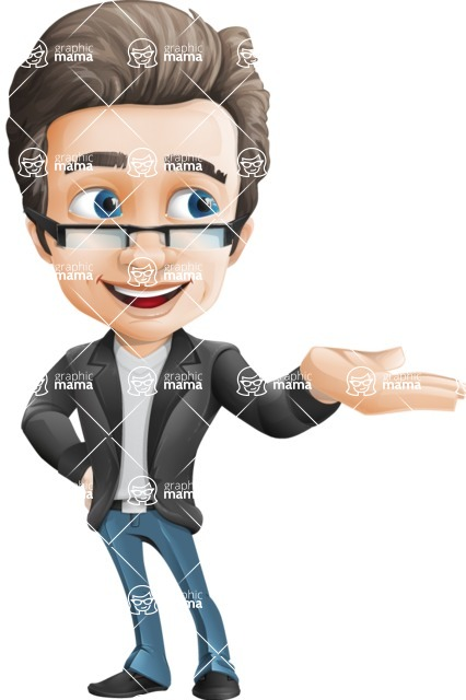 Vector Business Man Cartoon Character Design - Showcase2