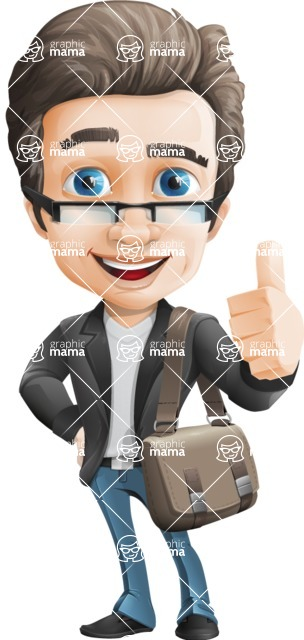 Handsome man vector character - Nick Smartman - Travel2