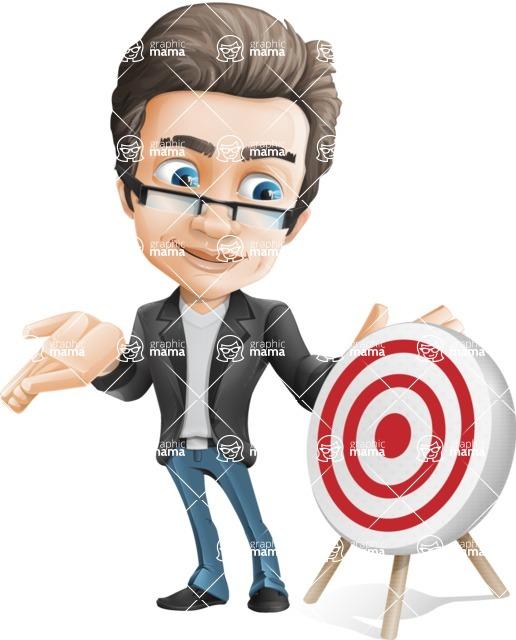 Handsome man vector character - Nick Smartman - Target
