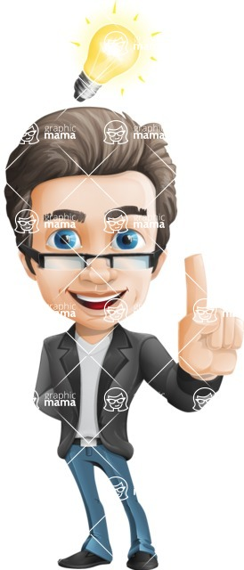 Handsome man vector character - Nick Smartman - Idea1