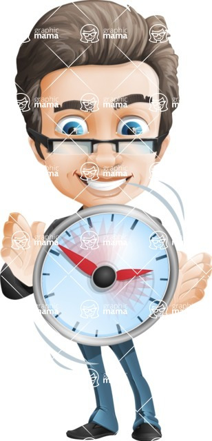 Handsome man vector character - Nick Smartman - Time is Yours