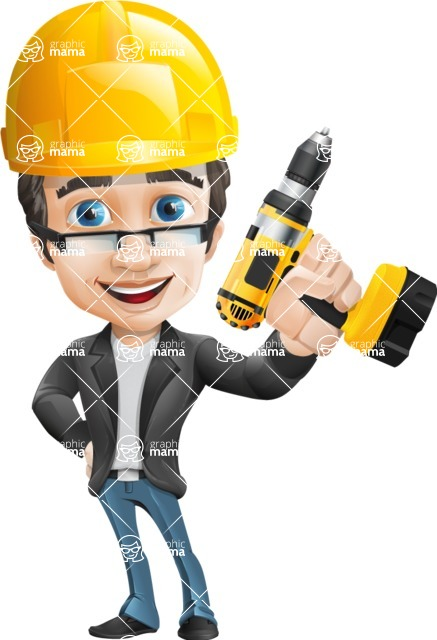 Handsome man vector character - Nick Smartman - Under Construction2