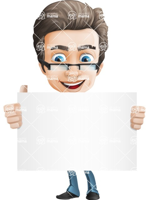 Handsome man vector character - Nick Smartman - Sign1