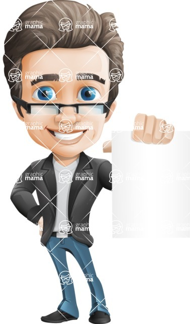Handsome man vector character - Nick Smartman - Sign4