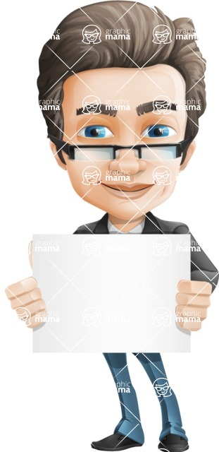 Handsome man vector character - one of GraphicMama best sellers - Sign5