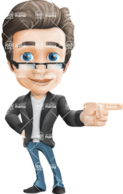 Handsome man vector character - Nick Smartman - Point