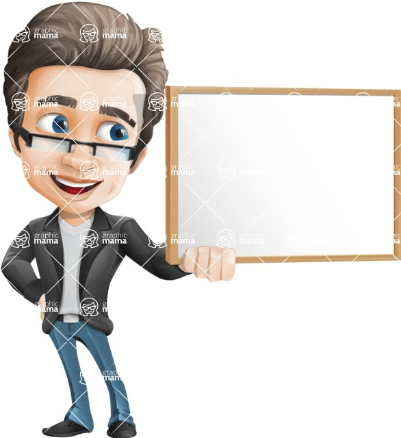 Vector Business Man Cartoon Character Design - Presentation1