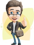 Vector Business Man Cartoon Character Design - Shape8