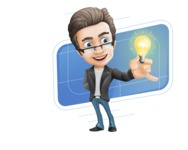 Vector Business Man Cartoon Character Design - Shape10