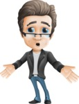 Vector Business Man Cartoon Character Design - Blank