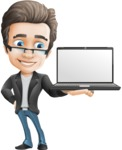Handsome man vector character - Nick Smartman - Laptop2